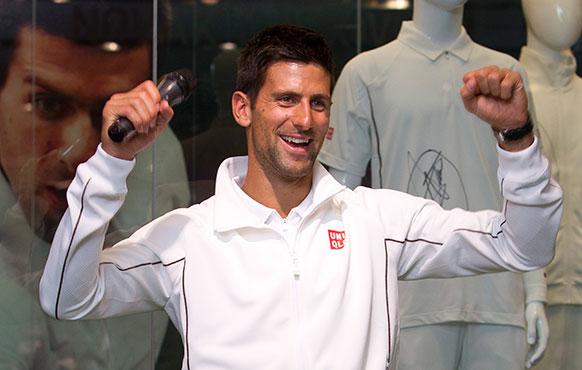 सर्बिया के टेनिस खिलाड़ी नोवाक जोकोविच
