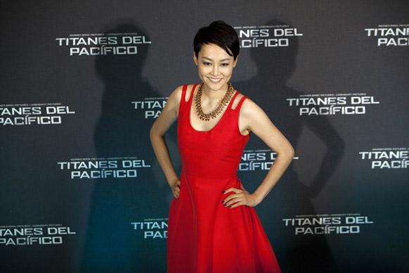 मैक्सिको सिटी में फिल्म पैसेफिक रिम के प्रमोशन के दौरान जापानी अभिनेत्री रिंको किकुची।