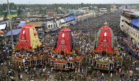 फाइल फोटो: भगवान जगन्नाथ की यात्रा पुरी में हर साल निकाली जाती है जिसमें लाखों श्रद्धालु जुटते हैं।