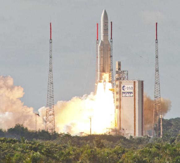 फ्रेंच गुयाना के अंतरिक्ष स्टेशन से हाल ही में भारत के नए उपग्रह इनसैट-3डी को सफलता पूर्वक छोड़ा गया।