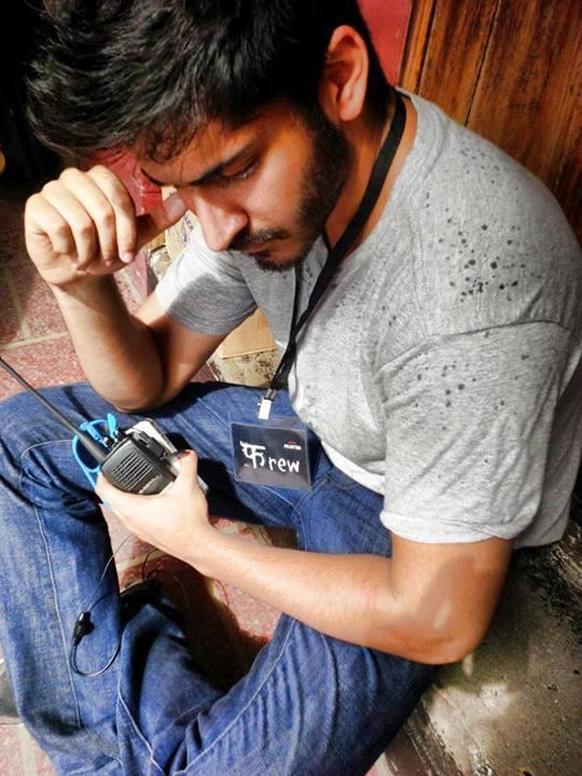 अनुराग कश्यप की फिल्म 'बॉम्बे वेलवेट' के सेट पर हर्ष कपूर।