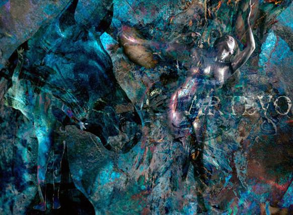 वीणा की पेटिंग की इस नुमाइश में कई रंगों का सहारा लिया गया।