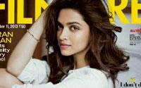 पत्रिका 'फिल्मफेयर' के ताजा अंक पर प्रकाशित अभिनेत्री दीपिका पादुकोण की तस्वीर। (फोटो सौजन्य- पिंकविला)