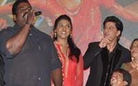 पार्टी में 'चेन्नई एक्सप्रेस' के कलाकार भी शामिल हुए।