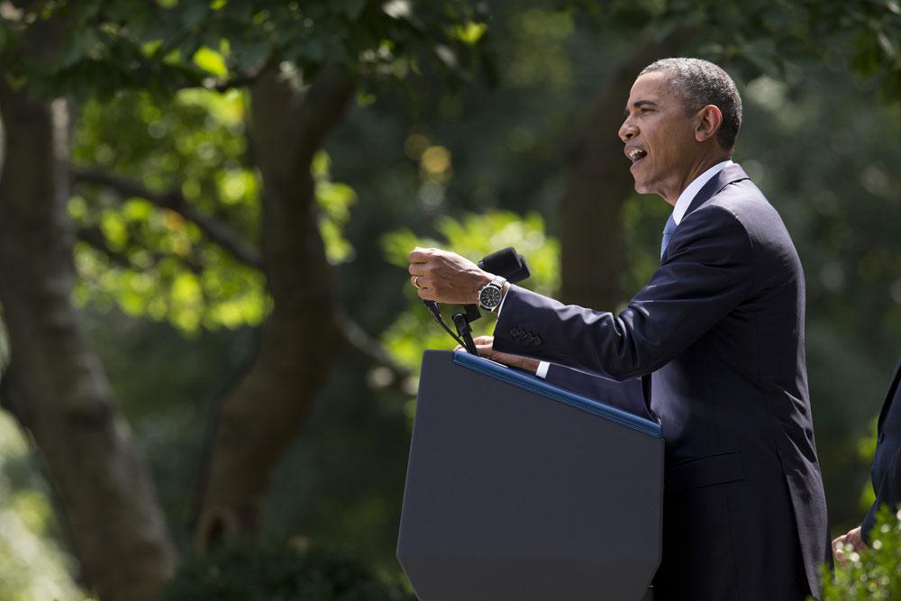 ह्वाइट हाउस में अमेरिकी राष्ट्रपति बराक ओबामा।