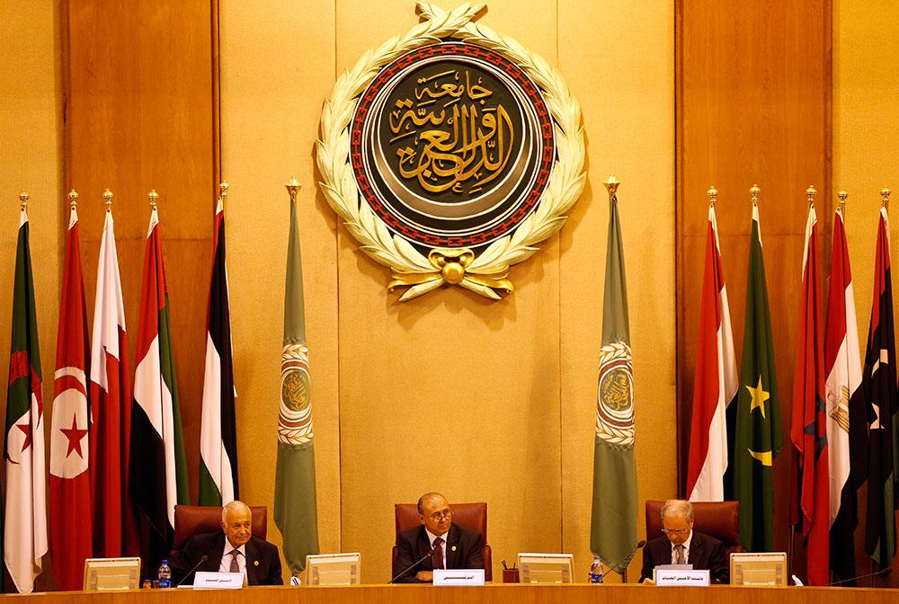 मिस्र के काहिरा में अरब देशों के विदेश मंत्रियों की बैठक।