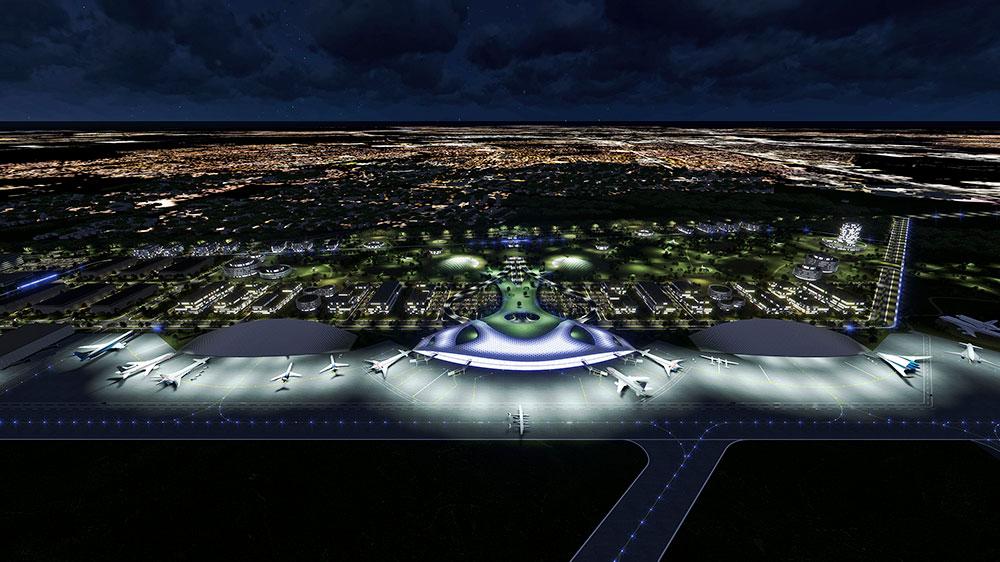 ह्यूस्टन हवाई अड्डे प्रणाली द्वारा ह्यूस्टन में प्रस्तावित स्पेशक्राफ्ट का डिजाइन।