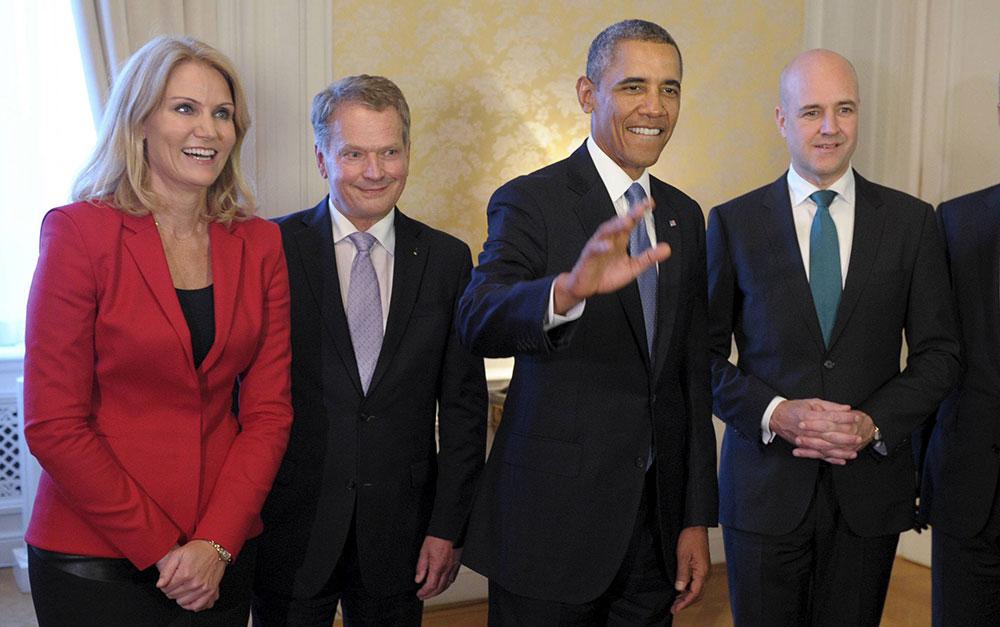 डेनमार्क के प्रधानममंत्री के साथ अमेरिकी राष्ट्रपति बराक ओबामा।