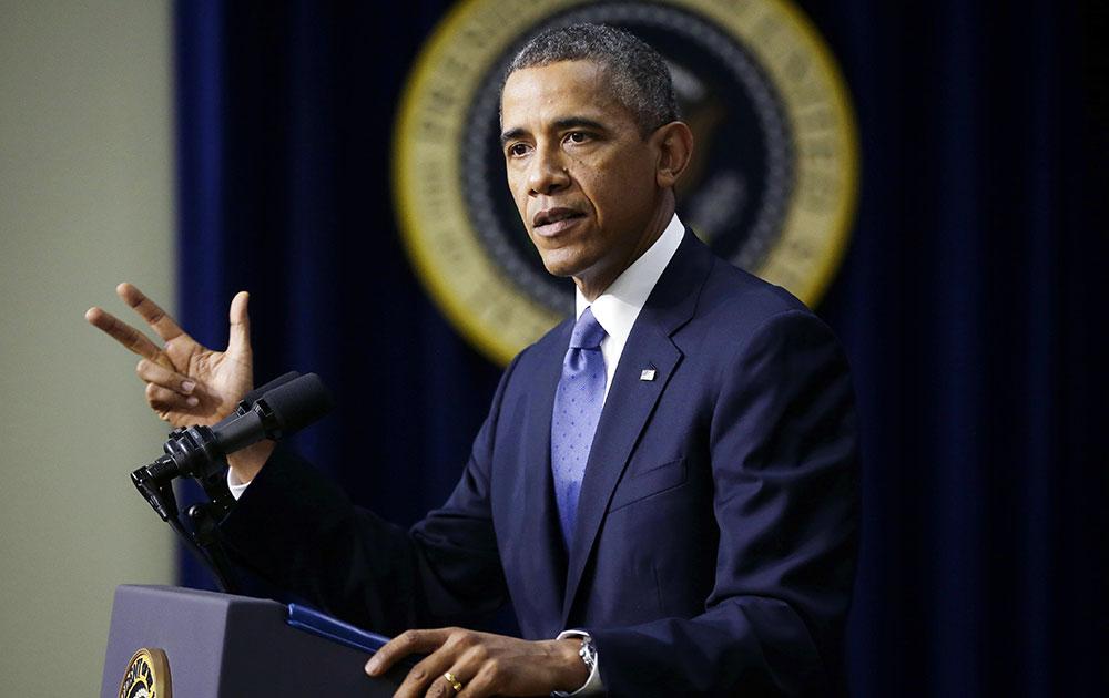 व्हाइट हाउस में अमेरिकी राष्ट्रपति।
