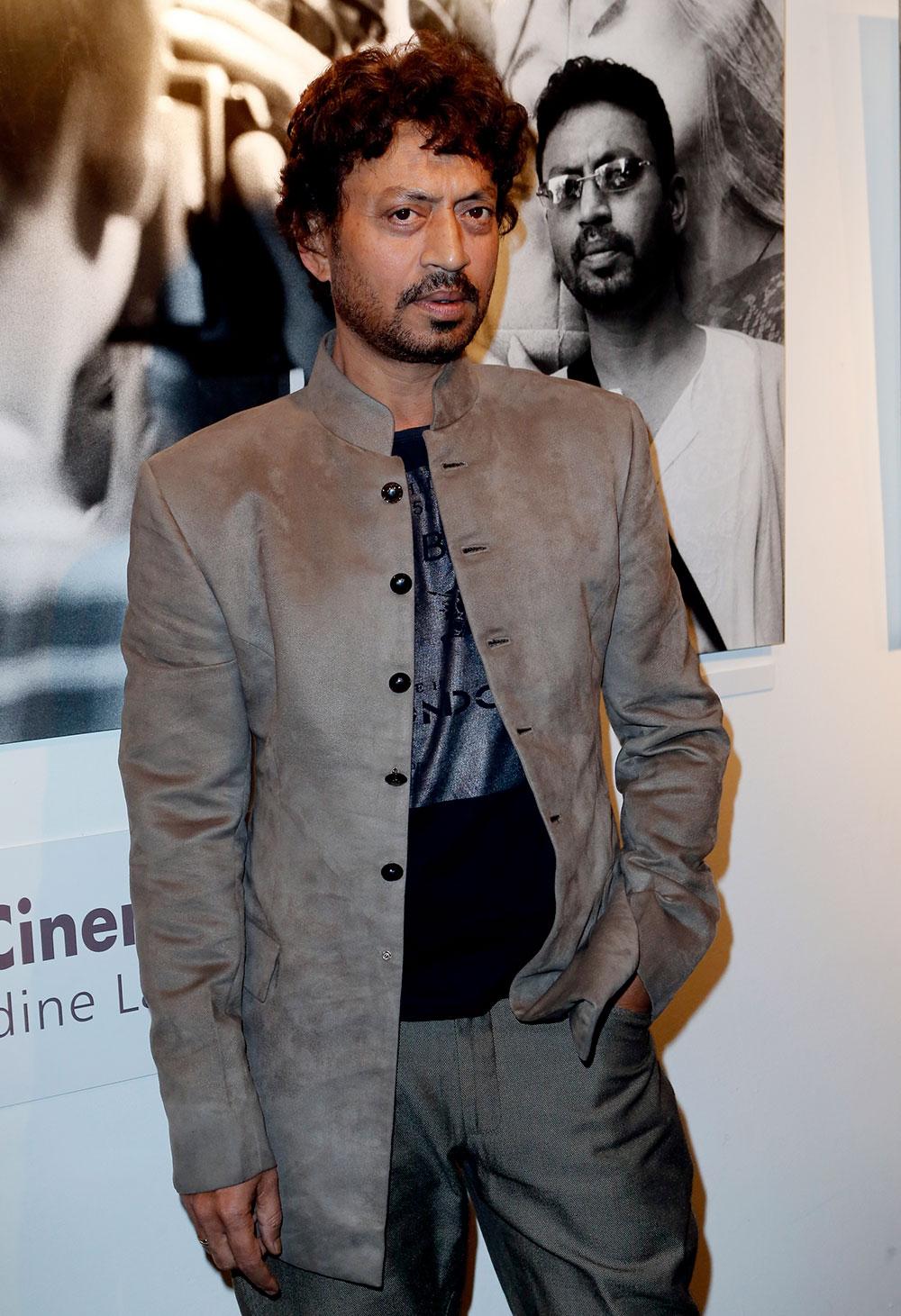 पेरिस में भारतीय फिल्म फेस्टिवल के मौके पर बॉलीवुड अदाकार इरफान खान।