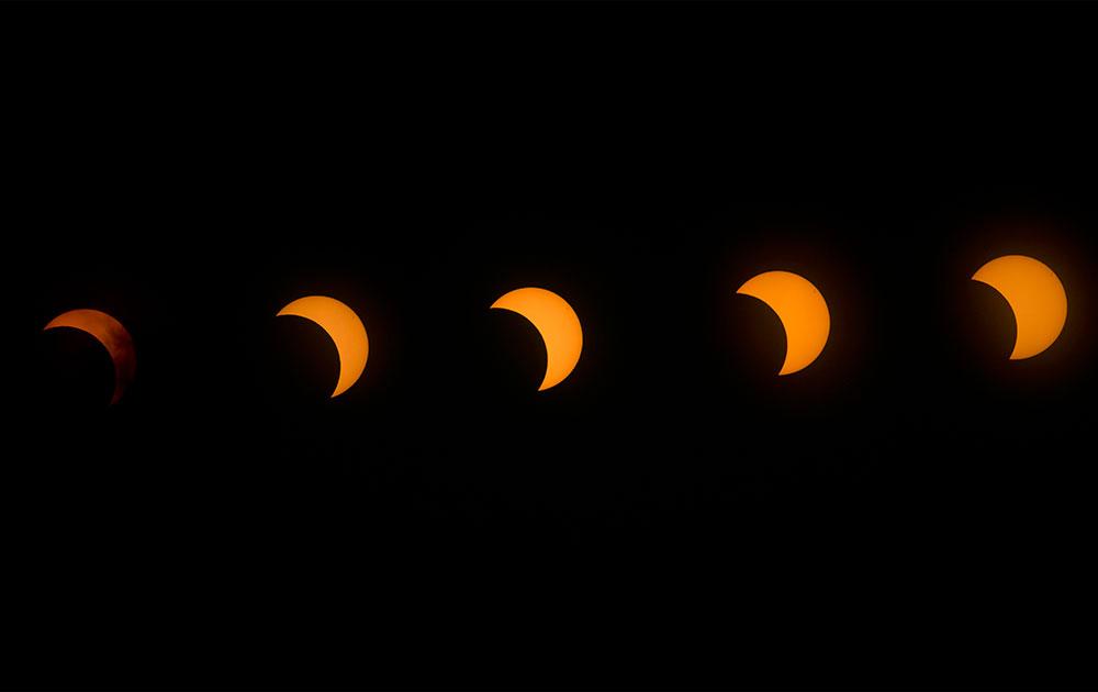 केन्या के ऊपर लगे सूर्य ग्रहण का एक अद्भुत दृश्य।