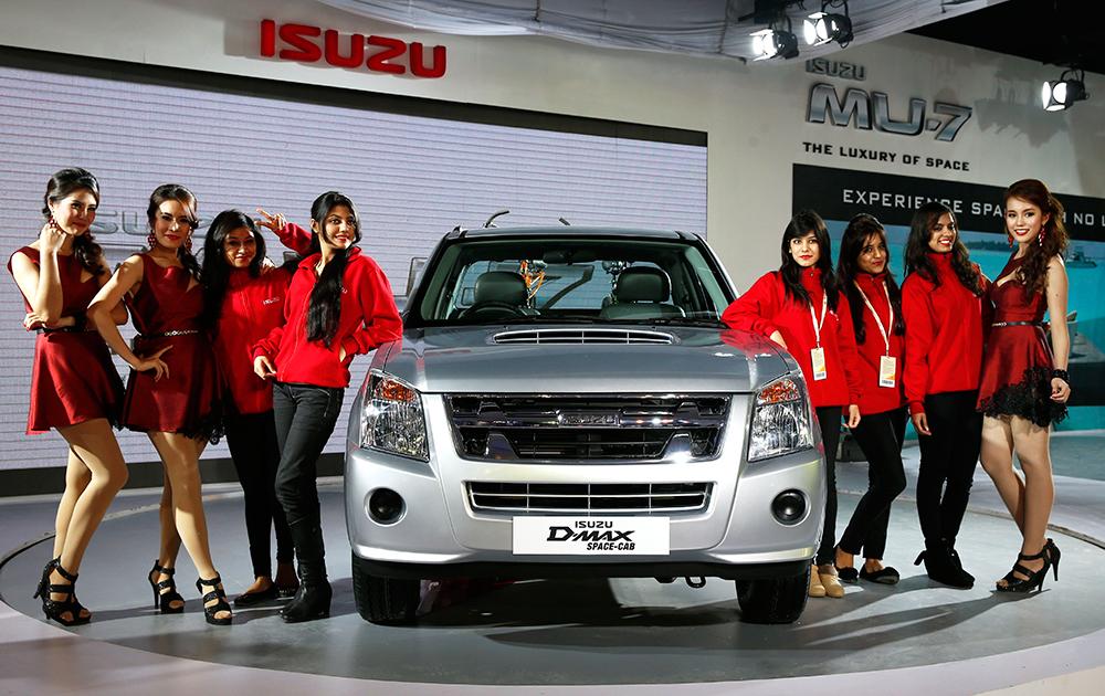 12वें ऑटो एक्सपो नोएडा में ISUZU के D-Max Space Cab को लॉन्च किया गया।