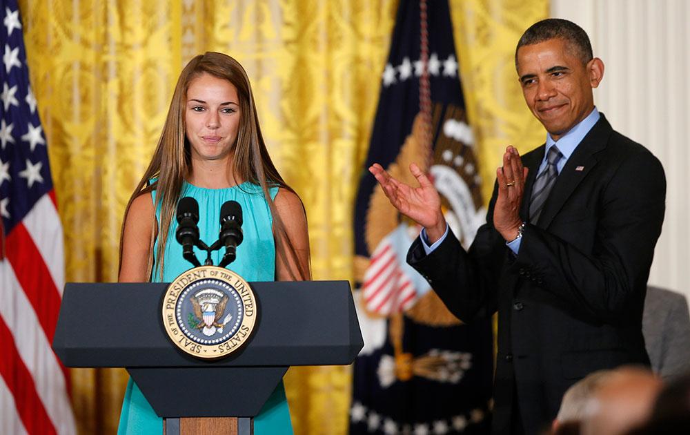 हेल्दी किड्स समिट से जुड़े एक कार्यक्रम में अमेरिकी राष्ट्रपति बराक ओबामा।