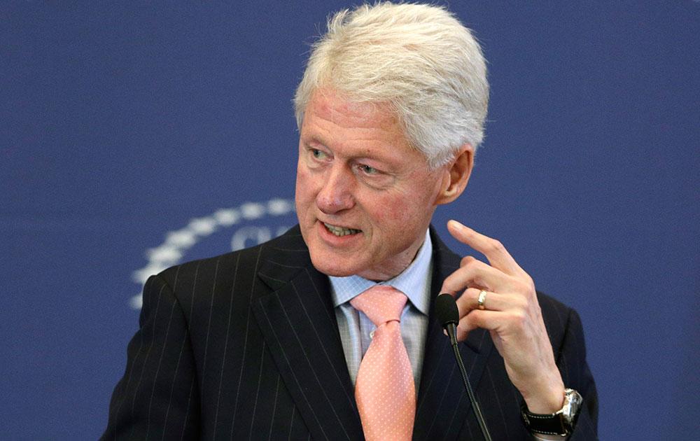 अमेरिका के पूर्व राष्ट्रपति बिल क्लिंटन।