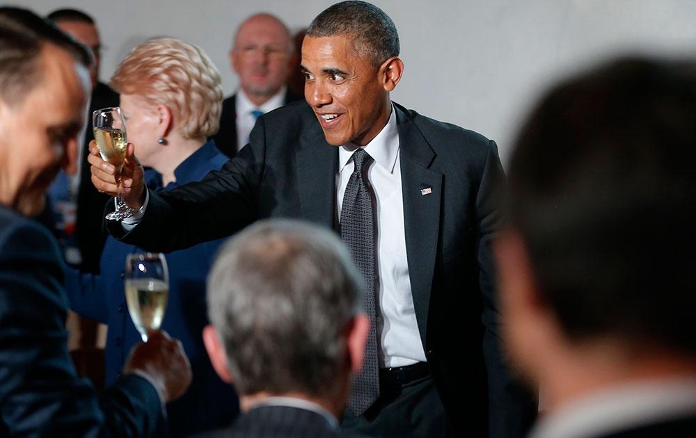 पोलैंड में अमेरिकी राष्ट्रपति बराक ओबामा।
