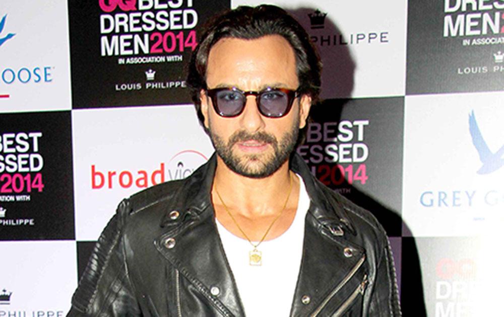 मुंबई में जीक्यू बेस्ट ड्रेस्ड मेन 2014 समारोह में अभिनेता सैफ अली खान।