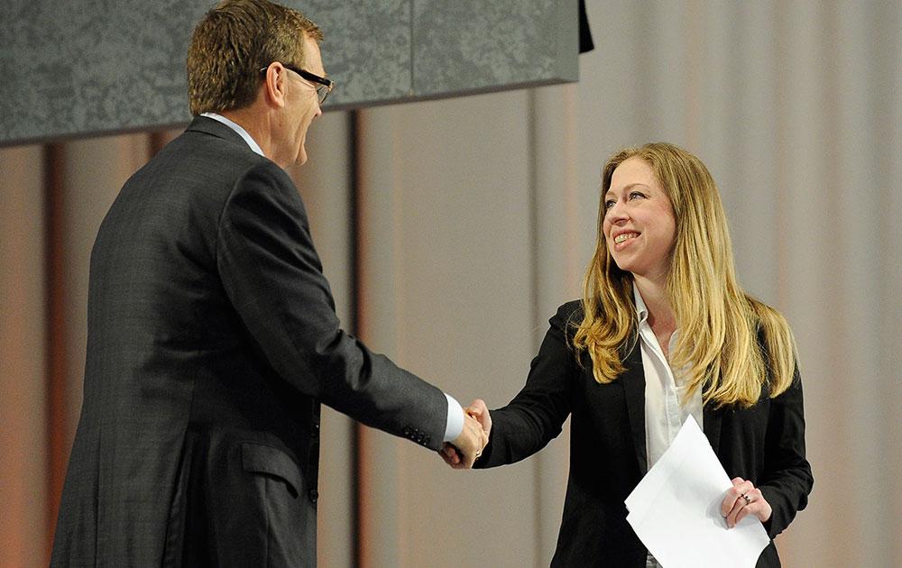 अटलांटा में एक कार्यक्रम के दौरान चेल्सिया क्लिंटन।