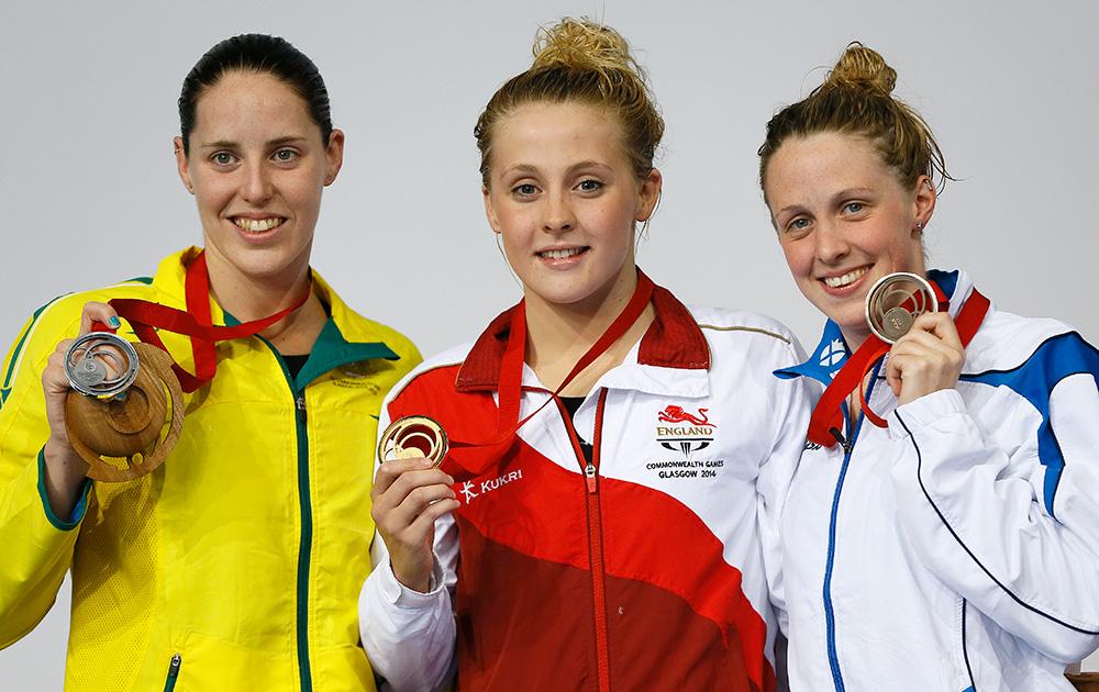 स्काटलैंड: ग्लासगो में कॉमनवेल्थ गेम्स 2014 के तहत महिलाओं की 200 मीटर व्यक्तिगत मेडले प्रतियोगिता में इंग्लैंड की सिओभन ओ कोनोर ने गोल्ड मेडल, आस्ट्रेलिया की एलिसिया कोउट्स ने रजत और स्काटलैंड की हाना मिले ने कांस्य पदक जीते।