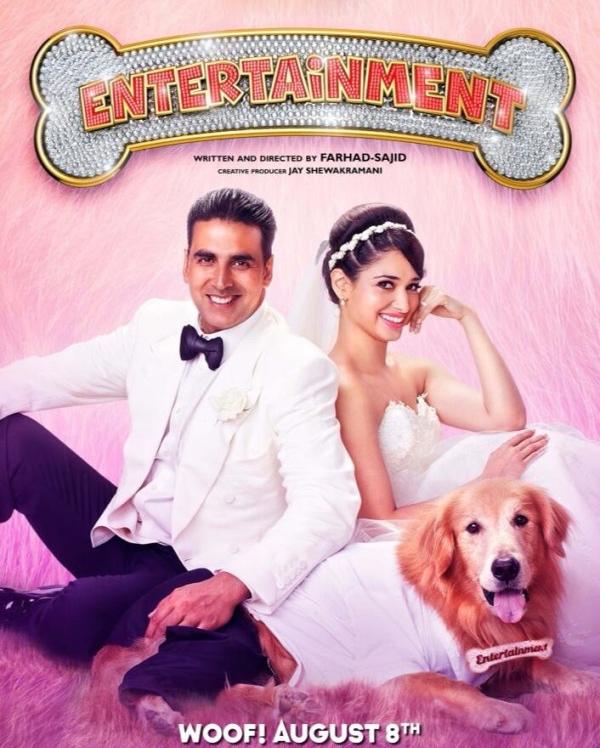 फिल्म एंटरटेनमेंट के एक सीन में अक्षय कुमार और तमन्ना भाटिया।