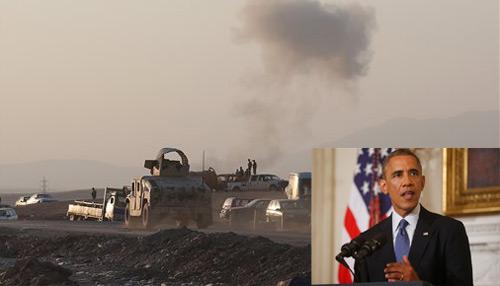 अमेरिका का इराक में जिहादियों पर हमला, ISIS के तोपों पर बरसाए बम
