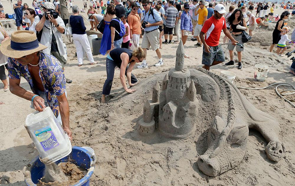 न्यूयॉर्क रेत मूर्तिकला प्रतियोगिता।