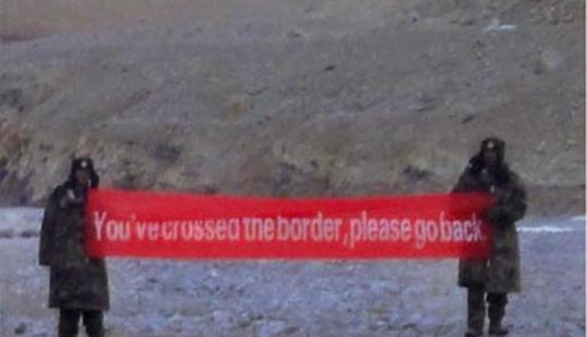 भारतीय सीमा में चीनी सैनिकों ने फिर की घुसपैठ, 30 किलोमीटर अंदर गाड़ा झंड़ा