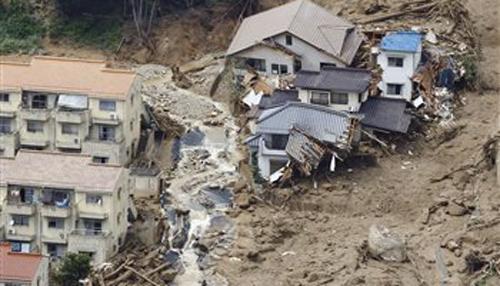 जापान में भूस्खलन में 36 लोगों की मौत