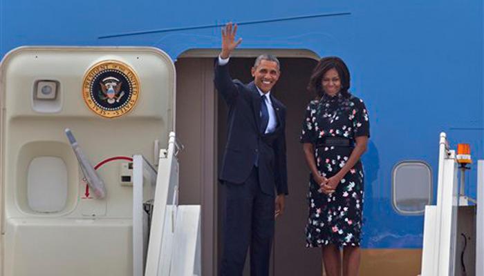 भारत दौरे के बाद `सऊदी अरब` रवाना हुए ओबामा