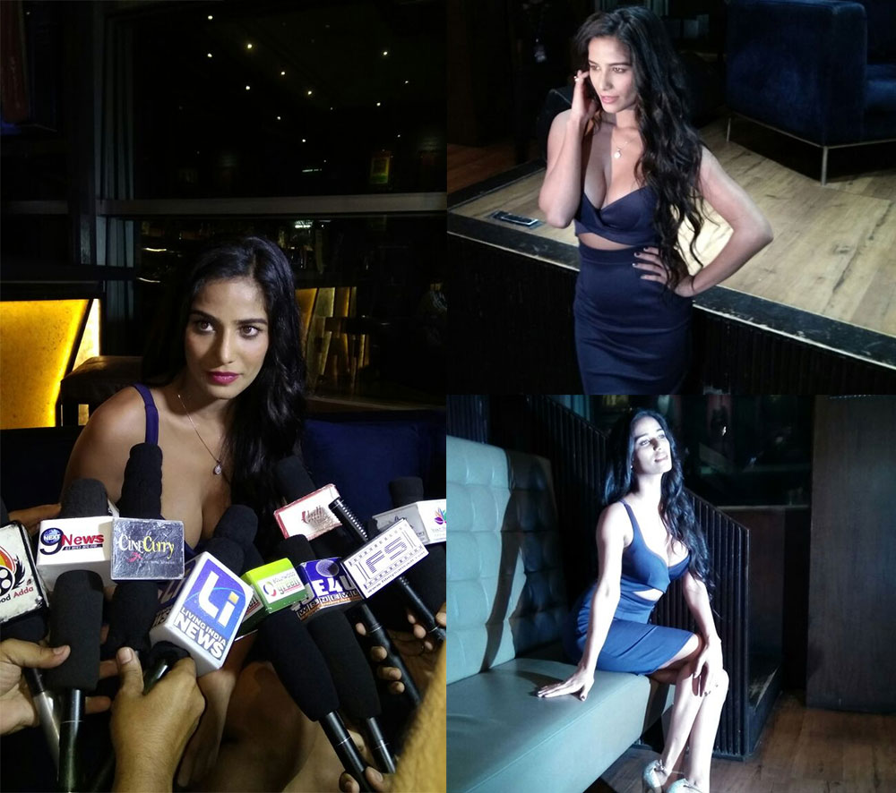 पूनम पांडे :- SEXY SIREN #POONAMPANDEY AT THE TRAILER LAUNCH OF HER UPCOMING SHORT FILM #THEWEEKEND! - TWITTER@BISCOOTLIVE
