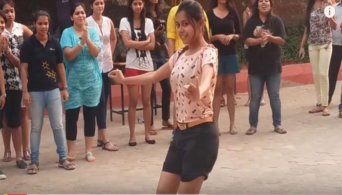 VIDEO : कॉलेज गर्ल्स ने किया ग्रुप डांस, लेकिन इस लड़की का डांस देख प्रभुदेवा भी करेंगे तारीफ