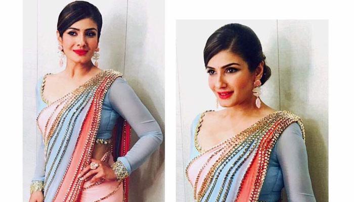 ट्विटर पर रवीना की 'साड़ी' पिक को लेकर हुआ बवाल, अभिनेत्री को देना पड़ा जवाब