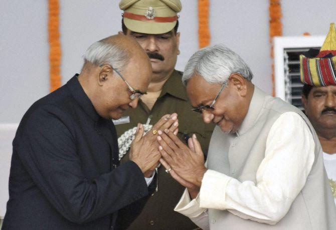 रामनाथ कोविंद की उम्मीदवारी पर नीतीश ने जताई खुशी, समर्थन के सवाल पर साधा मौन