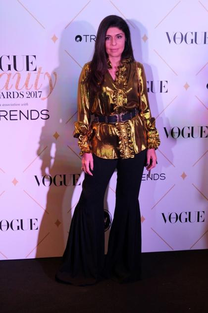 Fashion designer Anaita Shroff Adajania during the red carpet