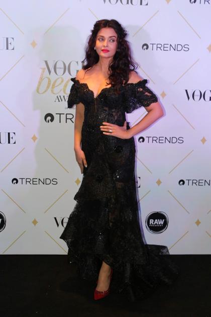 Actress Aishwarya Rai Bachchan during the red carpet