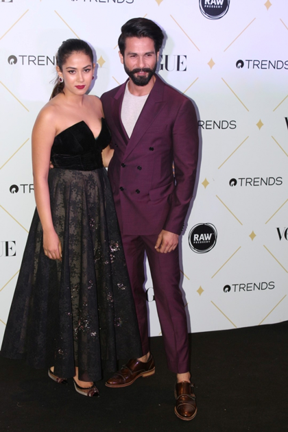 Actor Shahid kapoor along with his wife Mira Rajput