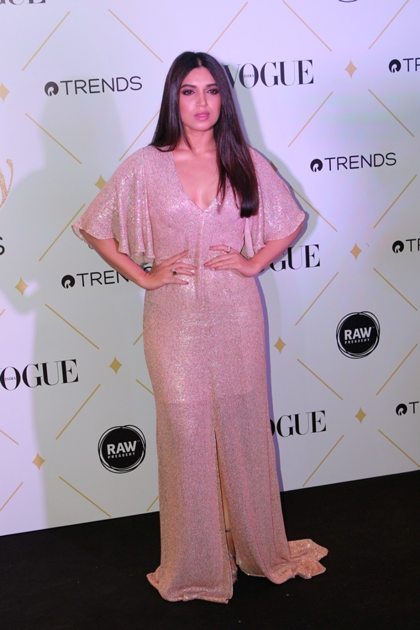 Actress Bhumi Pednekar during the red carpet of Vogue Beauty Awards 2017