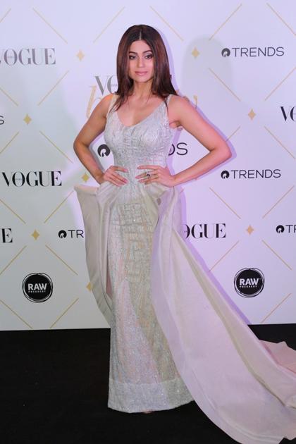 Shamita Shetty during the red carpet of Vogue Beauty Awards 2017