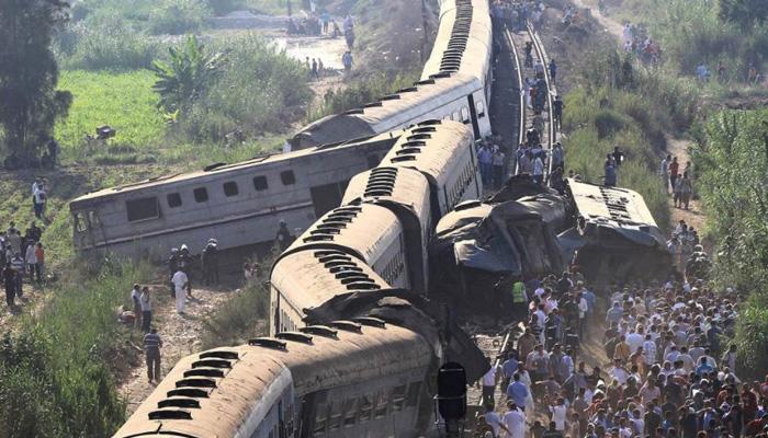 मिस्र में ट्रेनों की टक्कर में 44 की मौत, करीब 180 लोग घायल
