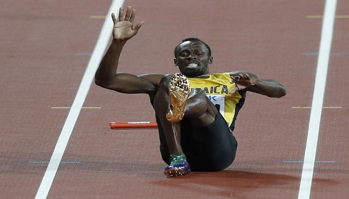 IAAF विश्व चैम्पियनशिप: अपनी आखिरी रेस पूरी नहीं कर पाए उसेन बोल्ट, स्वर्णिम विदाई का टूटा सपना