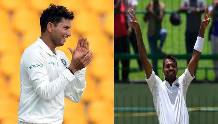 INDvsSL LIVE : पांड्या-कुलदीप का धमाल, जीत से 9 विकेट दूर टीम इंडिया