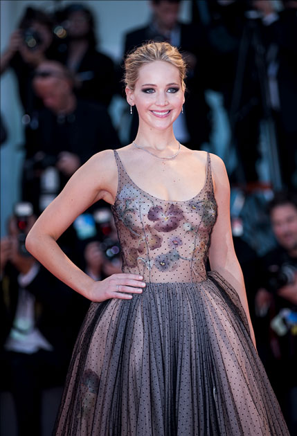 Actress Jennifer Lawrence attends the premiere of the movie
