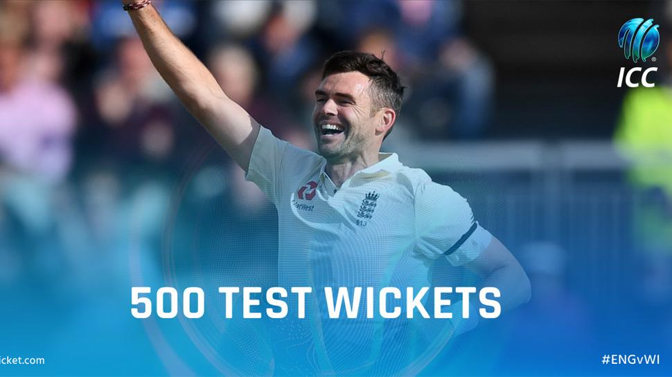 एंडरसन 500 टेस्ट विकेट लेने वाले इंग्लैंड के पहले और दुनिया के छठे गेंदबाज बने