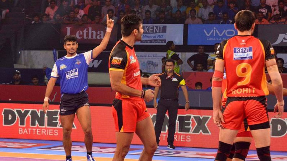 प्रो कबड्डी लीग: हरियाणा स्टीलर्स की घर में पहली जीत, बेंगलुरु बुल्स को हराया