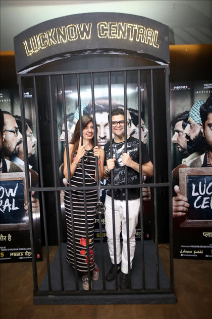 Dabboo Ratnani along with his wife Manisha D Ratnani during the special screening of upcoming film Lucknow Central