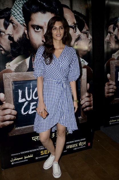 Actress Kriti Sanon during the special screening of upcoming film Lucknow Central