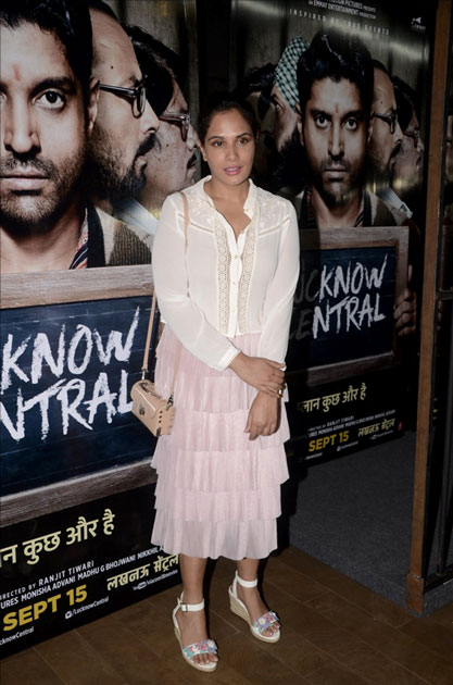 Actress Richa Chadda during the special screening of upcoming film Lucknow Central