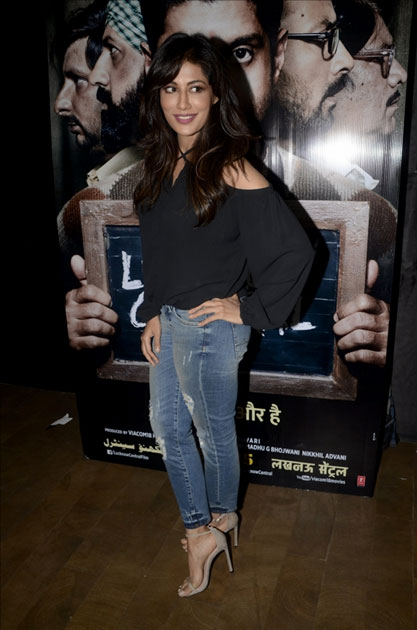 Actress Chitrangada Singh during the special screening of upcoming film Lucknow Central
