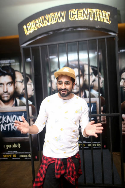 Actor Ayushmann Khurrana during the special screening of upcoming film Lucknow Central