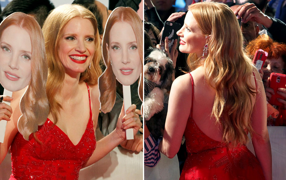Actor Jessica Chastain arrives at the premiere of the film