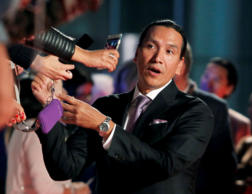 Actor Michael Greyeyes arrives at the premiere of the film
